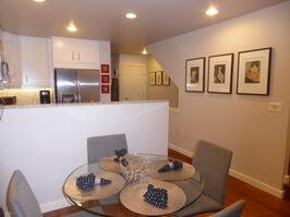 Dining area next to our newly renovated kitch