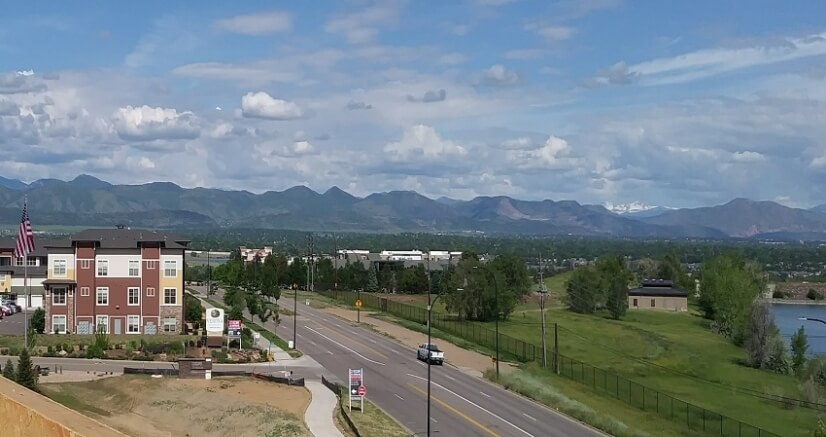 Mountain Range and Lake Views form rooftop te