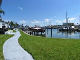 Yacht Club Walkways along the water