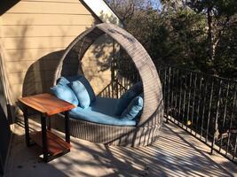 Lounge outside among the trees