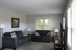 Upstairs Living Room with brand new furniture