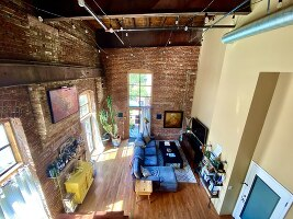 Arial View of the living room from the loft.