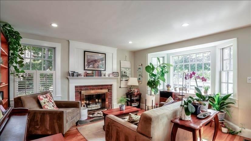 Cozy, sunny living room