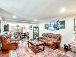 Living room and den area