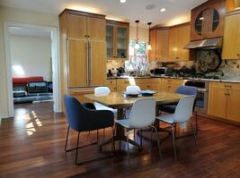 Gourmet Kitchen and Seating for 6-8 guests