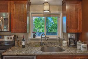 Enjoy mountain views from the kitchen window!