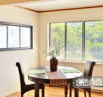Sunny large dining area