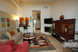 Living w/ Fireplace Furnished corporate renta