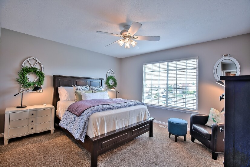 Master Bedroom with queen bed and smart TV