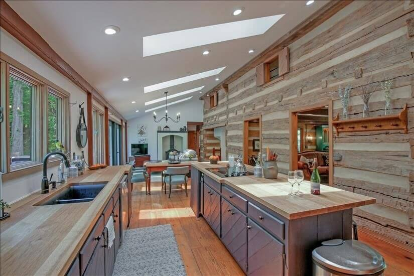 Custom Chef Kitchen with Tons of Light!