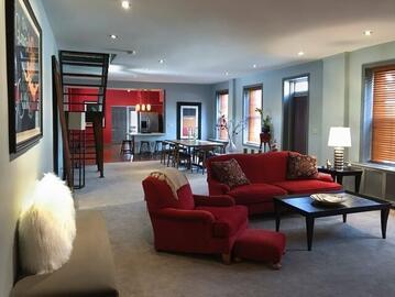 Living Room, Open floor plan